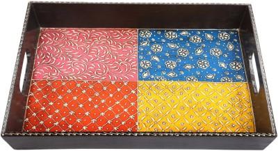 Rajrang Floral Tray Printed Wood Tray