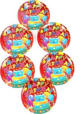 Funcart Three Tier Cake Theme 7 Inch Printed Paper Plate