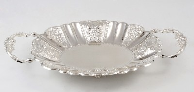 Eventz Gifts Round Solid Silver Plated Tray