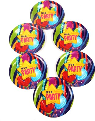 Funcart Fun & Frolic Party Theme 7 Inch Printed Paper Plate