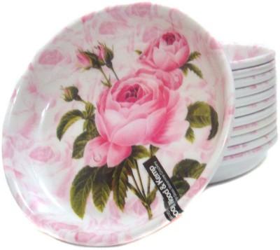 Wood & Kemp Smart Dinning 12pcs Rose Printed Melamine Plate Set