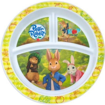 NUK Peter Rabbit Divided Plate Printed Plastic Plate