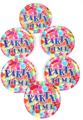 Funcart Party Time Theme 9 Inch Printed Paper Plate