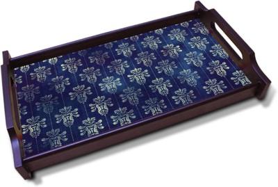 Kolorobia Transfixing navy blue Solid Wood Tray