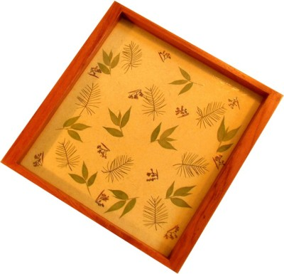 Aamori Embellished Wood Tray(Beige)