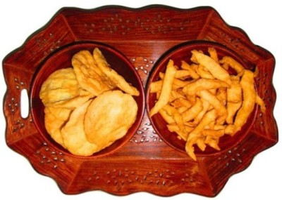 Onlineshoppee Dry Fruit Serving Solid Wood Tray