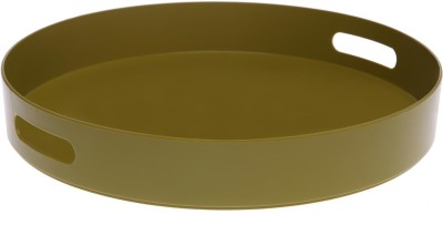 IVY by Home Stop Fusion Time Round Tray Geen Solid Porcelain Tray