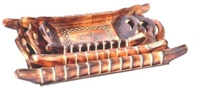 Onlineshoppee AFR1426 Solid Wood Tray Set