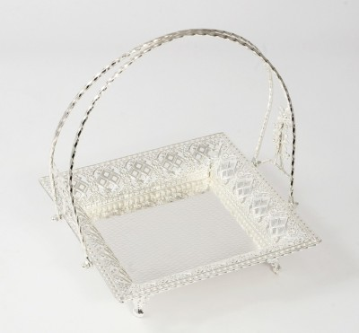 Eventz Gifts Royal candy square Solid Silver Plated Tray