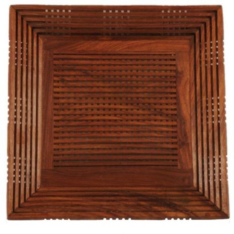 Chilifry Debossed Wood Tray(Brown, Pack of 1)