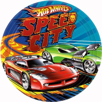 Amscan Hot Wheels Speed City Printed Paper Plate