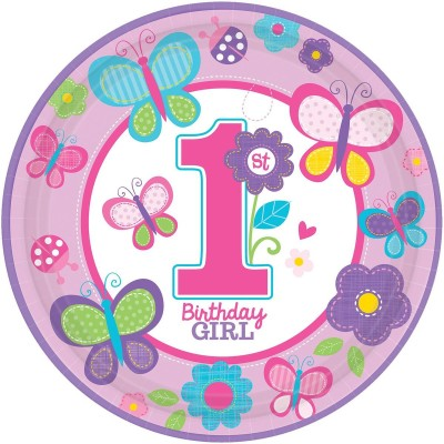Amscan Birthday Plate Printed Paper Plate