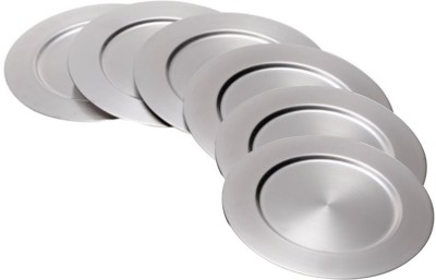 AsiaCraft Charger Silver Coated Solid Iron Plate Set