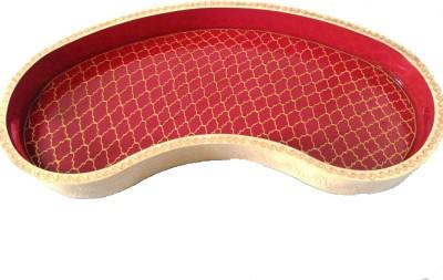 Jisethji kidney shape Embossed Wood Tray