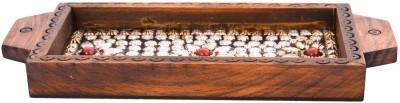 Rajkruti Wooden Handicraft serving Solid Wood Tray(Brown, Pack of 1)