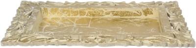 BOE Gold Lasercut Tray Embossed Wood Tray