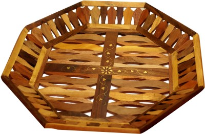 Kuch Khas Serving Sqaure Shape Hammered Wood Tray