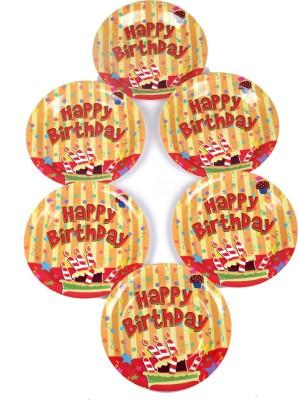 Funcart Stripe Birthday Theme 7 Inch Printed Paper Plate