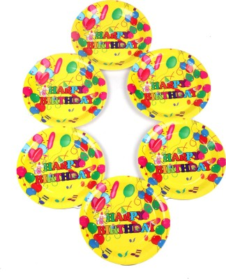 Funcart Colorful Balloons Theme 9 Printed Paper Plate