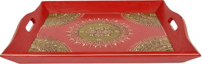 Lal Haveli Traditional Hand Printed Wood Tray