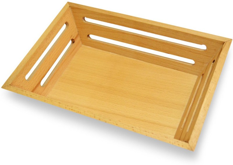 Spectrahut Steam Beech Solid Wood Tray(Brown, Pack of 1)