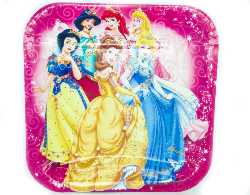 Ziggle Disney Princess Printed Paper Plate Set(Multicolor, Pack of 10)
