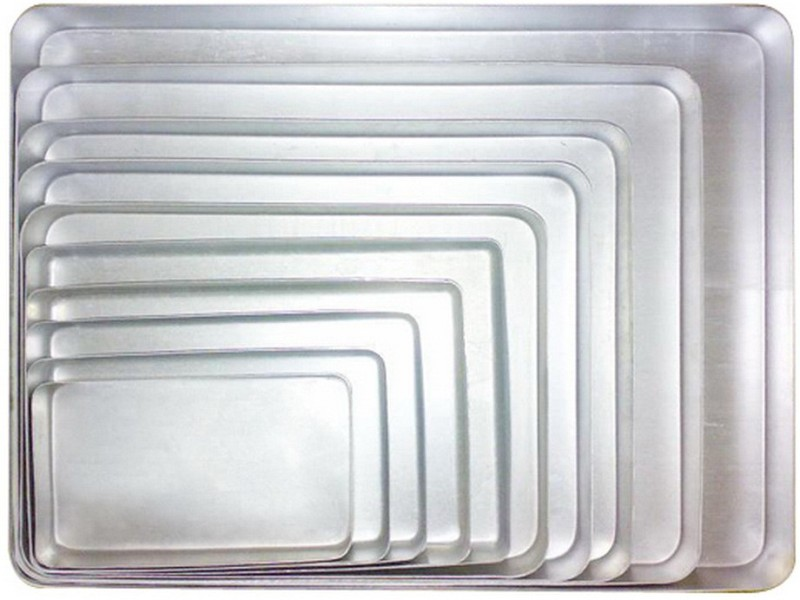 Jayco Solid Aluminium Tray(Silver, Pack of 10)