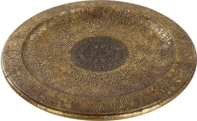 Rajrang Floral Tray Embossed Wood Tray