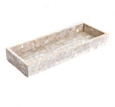 Opulent Homes Embossed Marble Tray