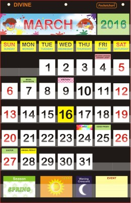 Pocketchart CALENDAR Pocket Chart