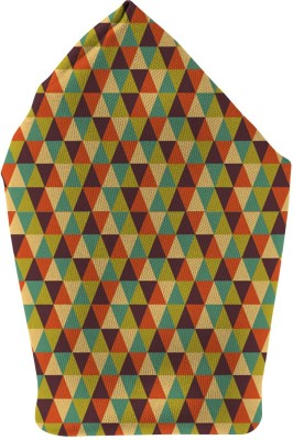 The Fappy Store Triangle Vector Multi Colour Printed Microfibre Pocket Square