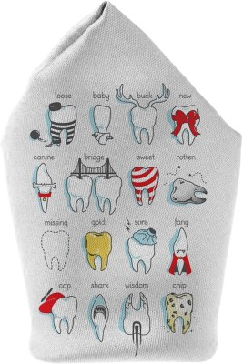 The Fappy Store Dental Defination Printed Microfibre Pocket Square