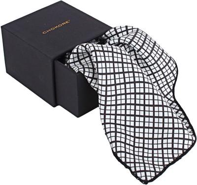 CHOKORE Checkered Silk Pocket Square