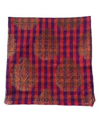Jupi Checkered Silk Brocade Pocket Square