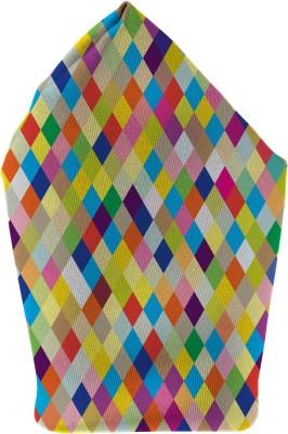The Fappy Store colourful diamonds Printed Microfibre Pocket Square