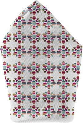 The Fappy Store colour-blocked pebble Printed Microfibre Pocket Square