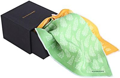 CHOKORE Printed Silk Pocket Square