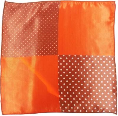 Serebroarts Polka Print Silk Pocket Square