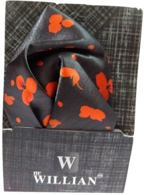 Abzr Graphic Print Silk Pocket Square