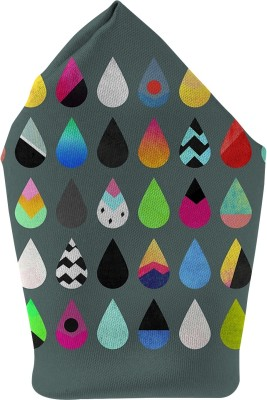 The Fappy Store Drop Shades Printed Microfibre Pocket Square