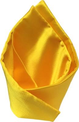Vibhavari Yellow Solid Microfibre Pocket Square