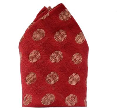 Jupi Polka Print Silk Brocade Pocket Square