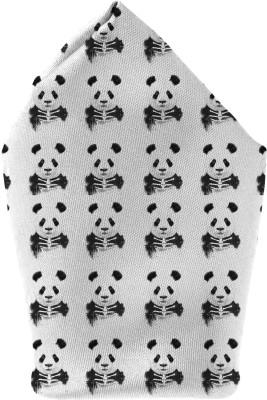 The Fappy Store Zombie Panda Printed Microfibre Pocket Square