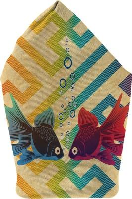 The Fappy Store Underwater Love Printed Microfibre Pocket Square