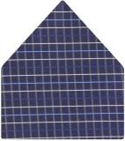 Tiekart Checkered Microfibre Pocket Squa...
