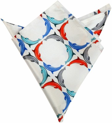 Blacksmithh Multi Dolphins Printed Design Animal Print Satin Pocket Square
