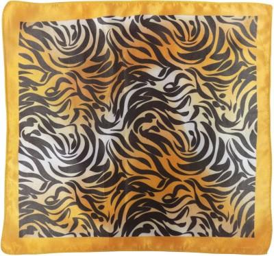 Serebroarts Animal Print Silk Pocket Square
