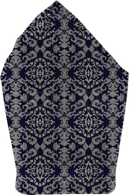 The Fappy Store blue pattern Printed Microfibre Pocket Square