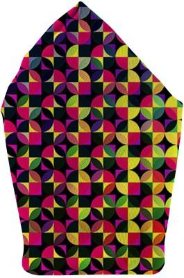 The Fappy Store Circle Love Printed Microfibre Pocket Square