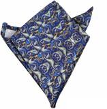 Blacksmithh Floral Print Satin Pocket Sq...
